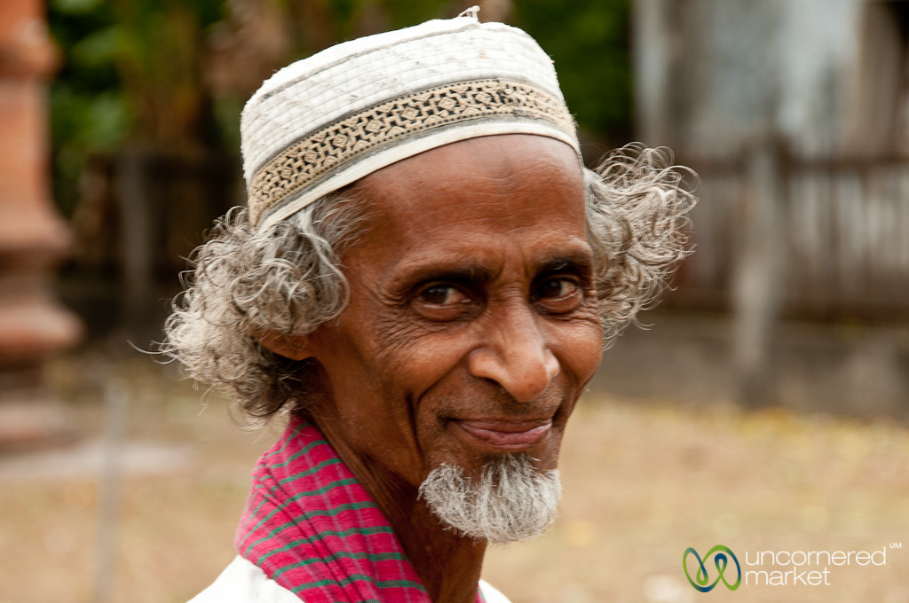 Friendly Imam of the Nine Dome Mosque - Bagerhat, Bangladesh
