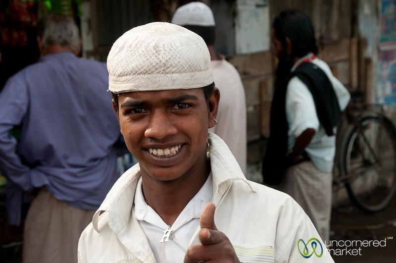 Young Bangladeshi Man with Finger Guns - Bagerhat, Bangladesh
