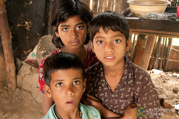 Curious Kids at the Village Tea House - Bangladesh