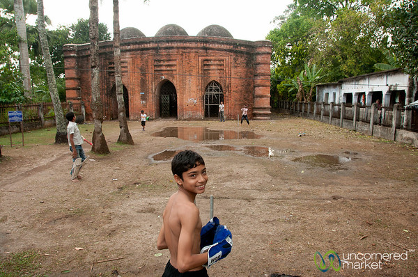 Cricket at the Nine Domed Mosque - Bagerhat, Bangladesh