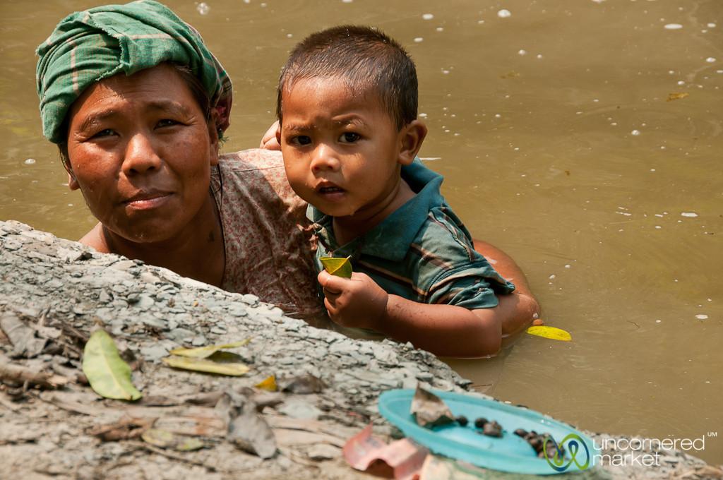 Fishing for Snails - Bandarban, Bangladesh
