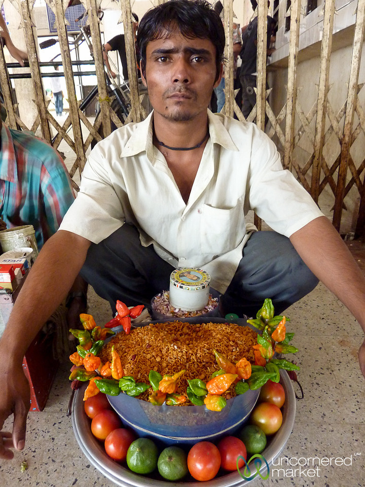 Selling Chanachur at the Srimongal Station - Bangladesh
