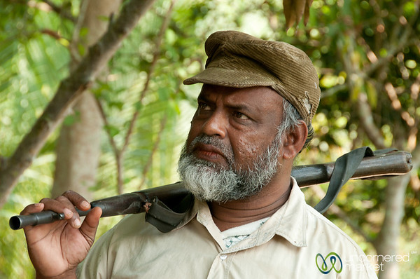 Guard with Gun - Sundarbans, Bangladesh