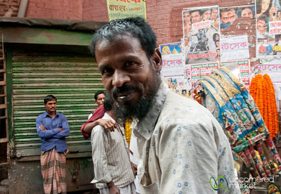 Friendly Rickshaw Driver in Shakhari Bazar - Dhaka, Bangladesh