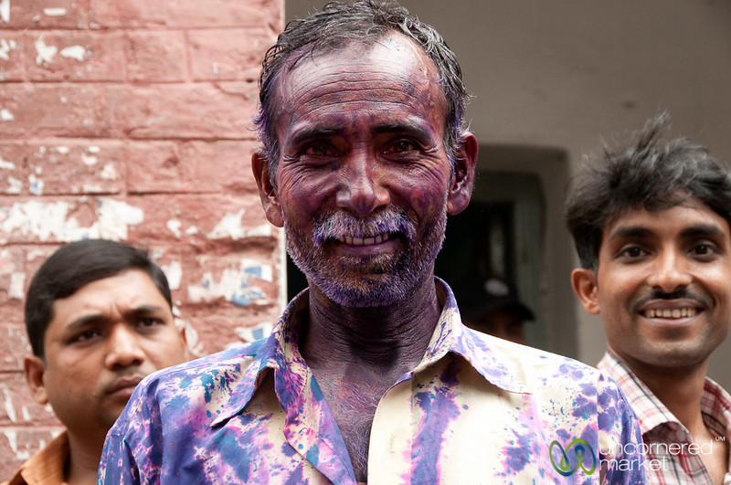Covered in Paint for Holi Celebrations - Old Dhaka