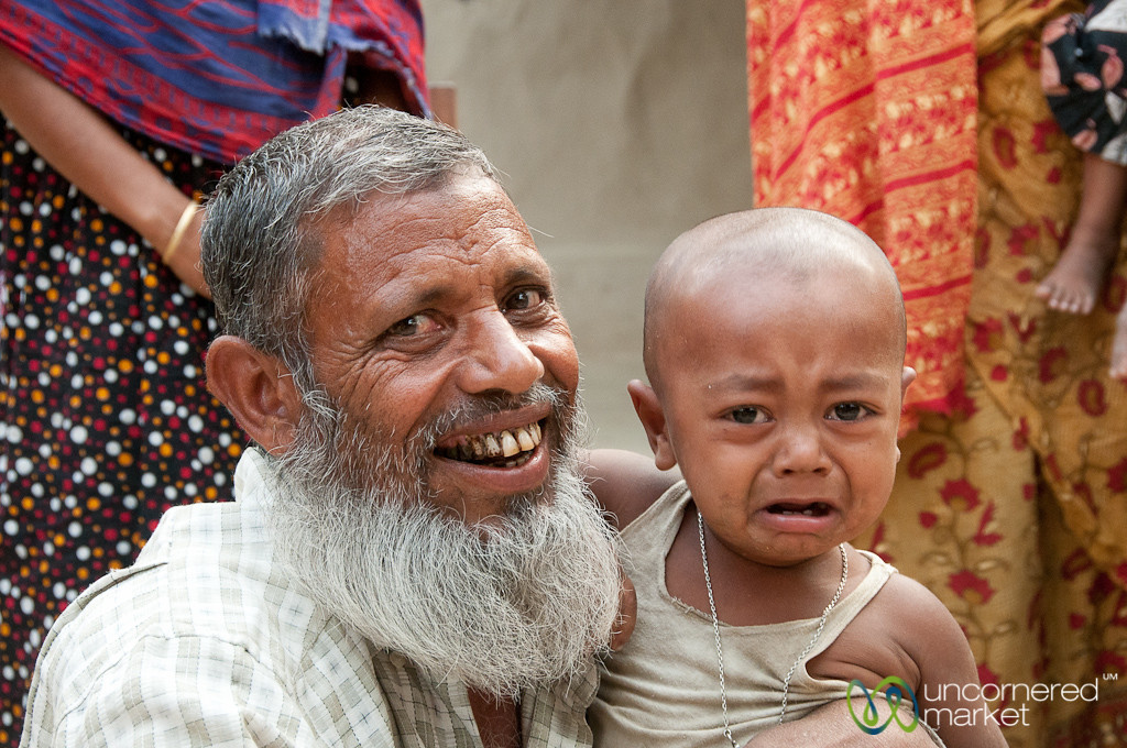 Happy Father, Sad Baby - Hatiandha, Bangladesh