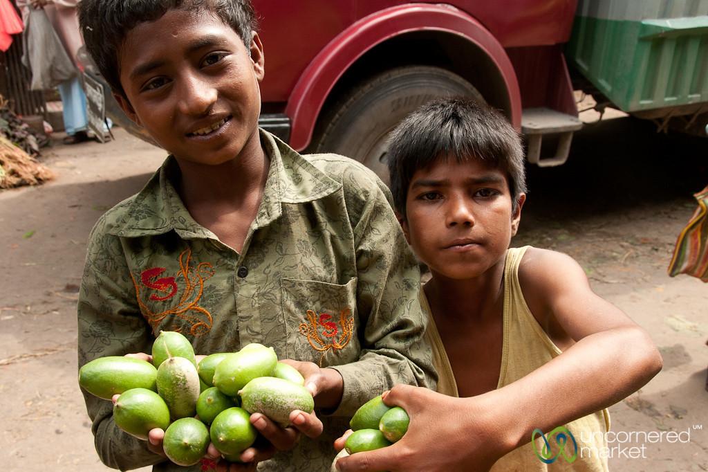 Boys Selling Limes - Srimongal, Bangladesh
