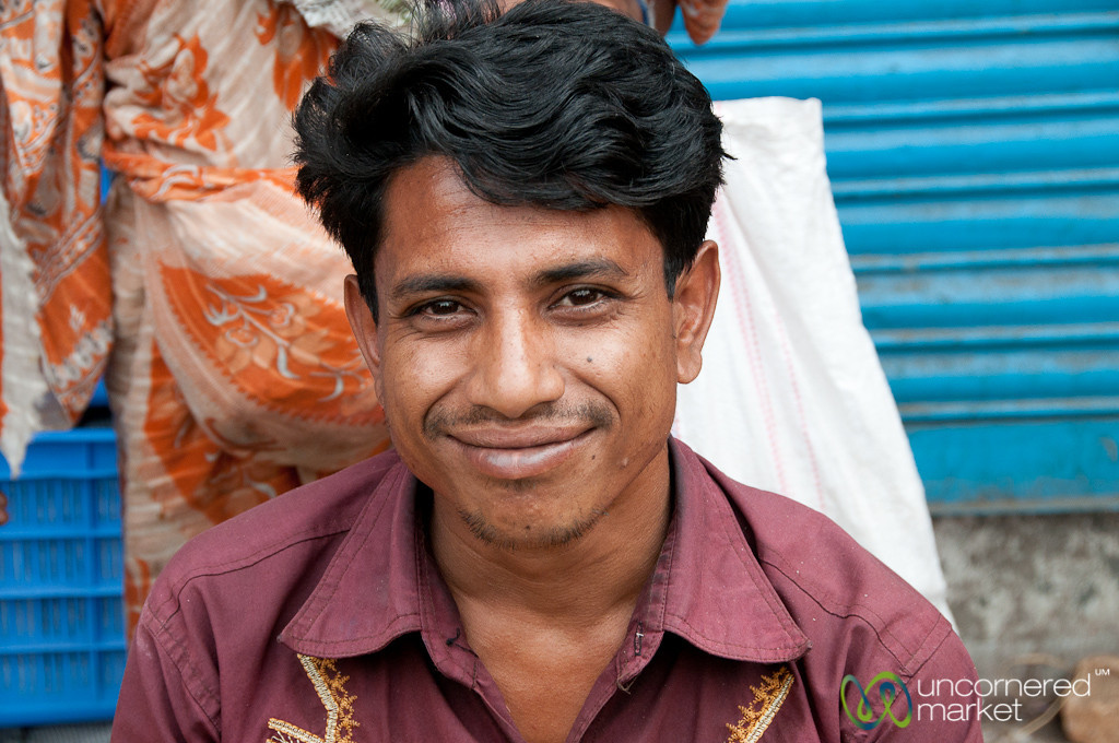 Friendly Fruit Vendor in Old Dhaka, Bangladesh