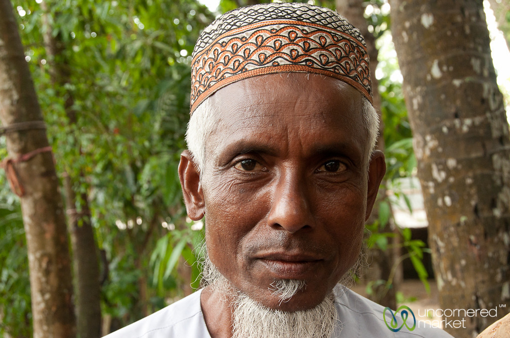 Bangladeshi Man in Taqiyah (Muslim Hat) - Bagerhat, Bangladesh