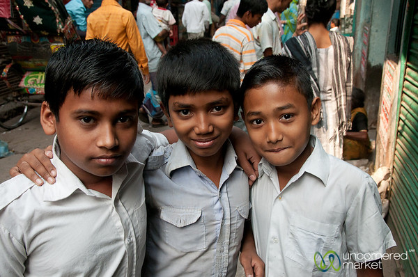 School Kids at Shakhari Bazar - Dhaka, Bangladesh