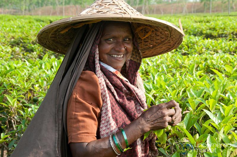 Laughing Tea Picker - Srimongal, Bangladesh