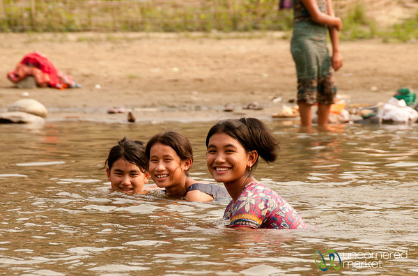 Bathing and Laughing - Bandarban, Bangladesh