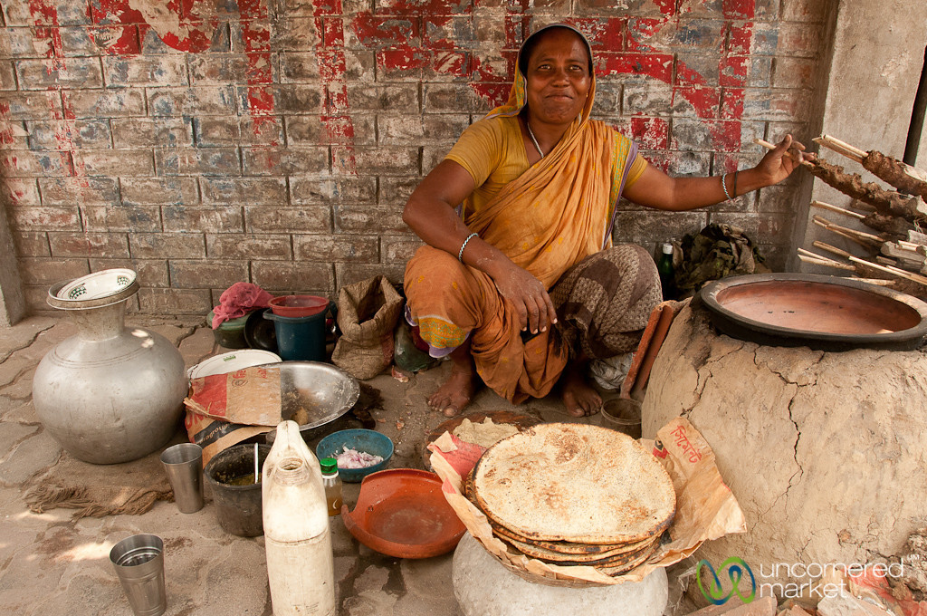 Kalai Roti Stand on Streets of Rajshahi, Bangladesh