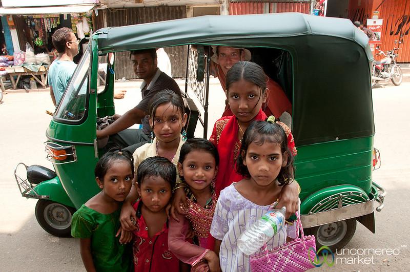 Kids and a Rickshaw - Rangamati, Bangladesh