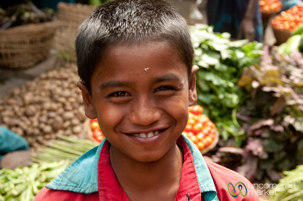 Boy with Big Smile - Srimongal Market, Bangladesh