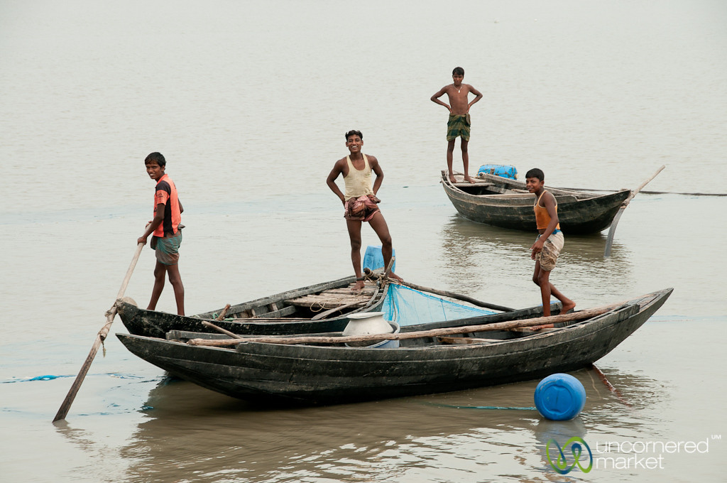 Fishing Boats on the River - Khulna to Sundarbans, Bangladesh