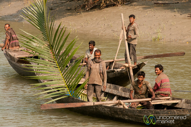 Men Collecting Palm Leaves - Sundarbans, Bangladesh