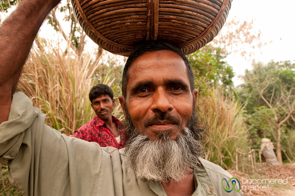 Man with Basket in Hatiandha, Bangladesh