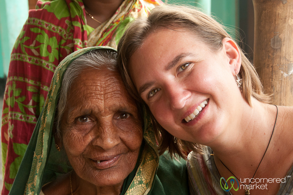Audrey and a Friendly Grandma in Hathianda, Bangladesh
