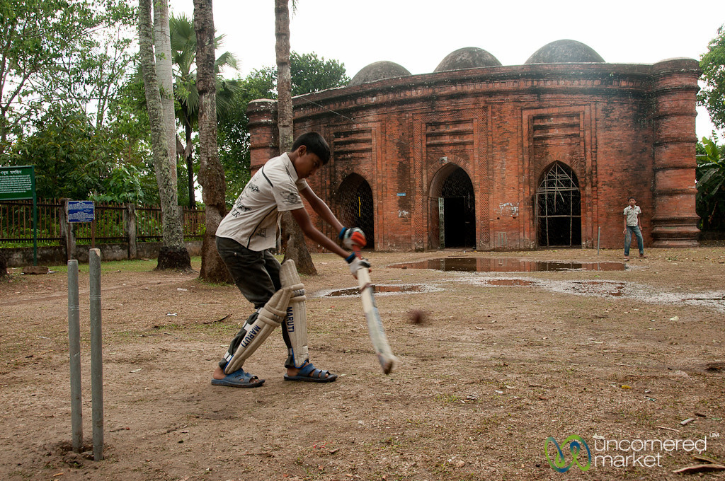 Cricket at the Nine-Dome Mosque - Bagerhat, Bangladesh