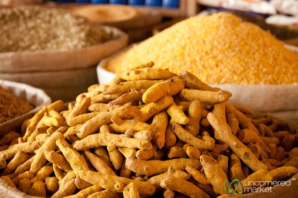 Dried Tumeric at Srimongal Market - Bangladesh