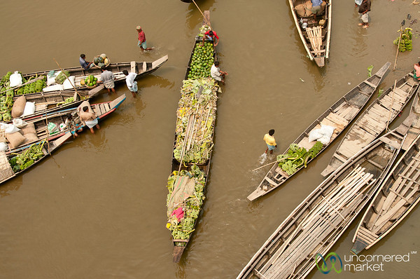 Boats Bringing Produce to Market - Bandarban, Bangladesh