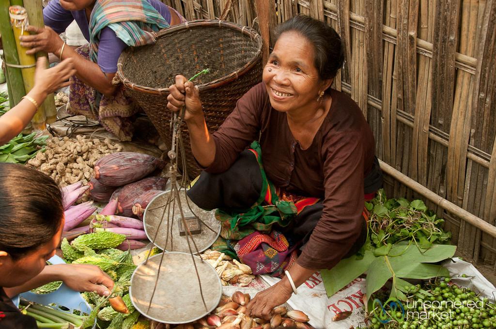 Making a Sale at the Market - Bandarban, Bangladesh