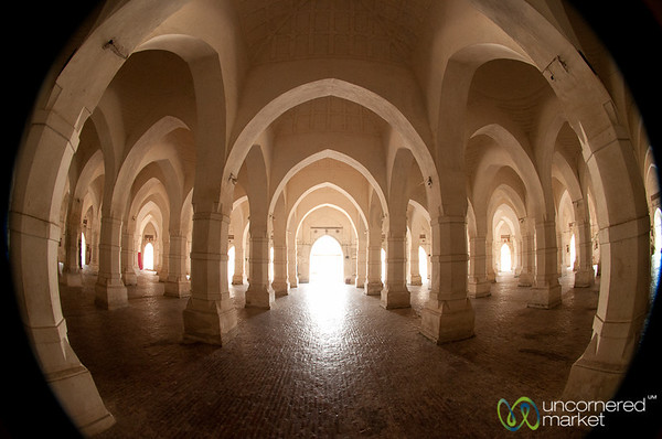 Inside Shait Gumbad Mosque (Sixty-Domed Mosque) - Bagerhat, Bangladesh