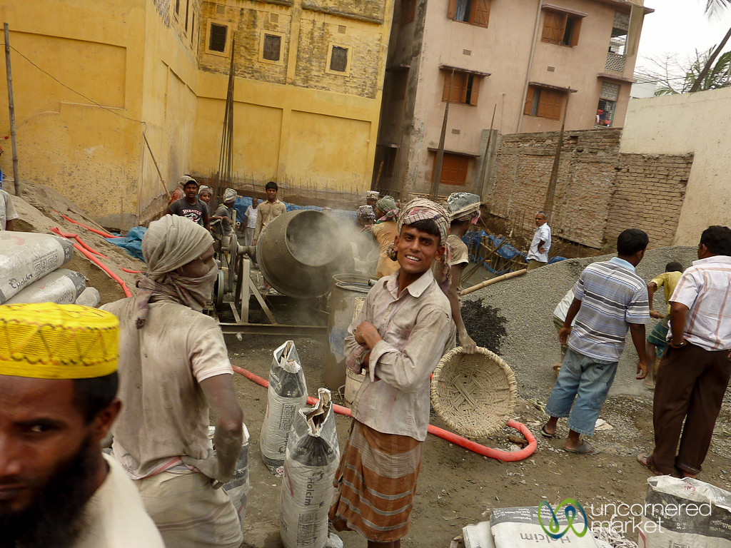 Construction Site and Workers - Rajshahi, Bangladesh