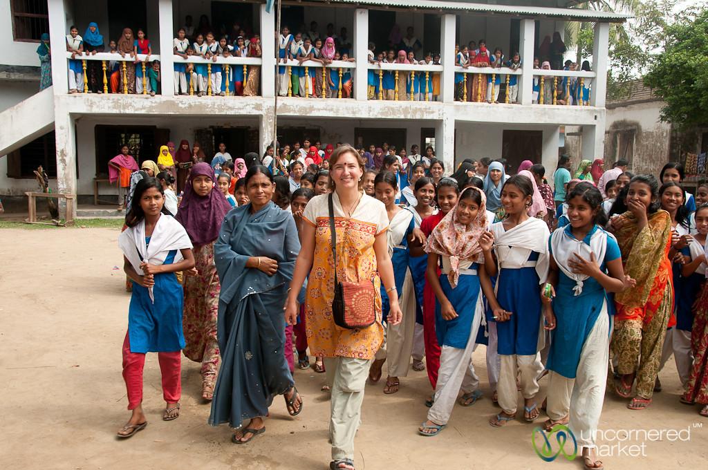 Visiting a School in Hatiandha, Bangladesh