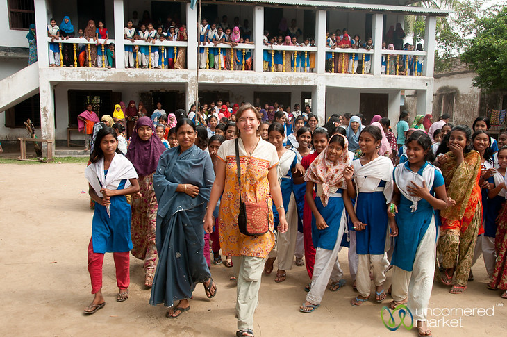 Visiting a School in Hatiandha, Bangladesh