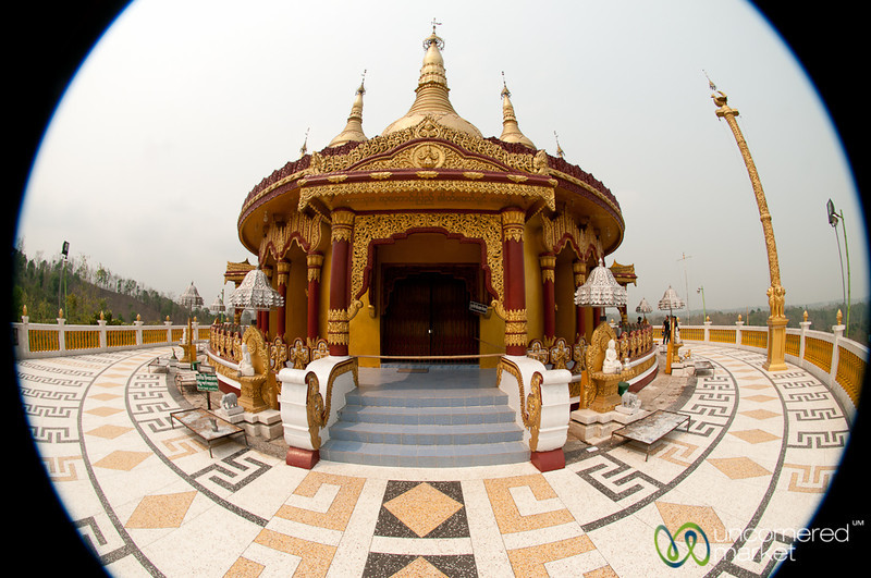 Fisheye View of Golden Temple - Bandarban, Bangadesh