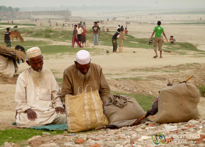 Muslim Men During Evening Prayers - Rajshahi, Bangladesh