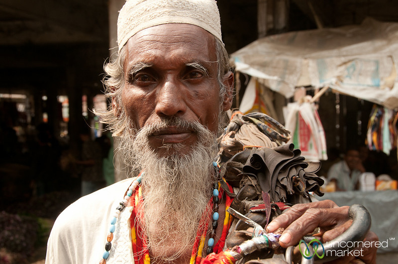 Older Man with Umbrella - Srimongal, Bangladesh