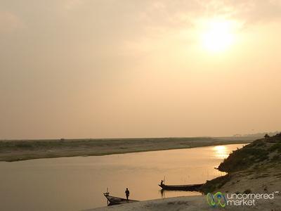 Sunset Along the Ganges (Padma) River - Rajshahi, Bangladesh