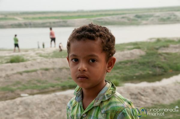 Young Boy Along Banks of Ganges (Padma) River - Rajshahi, Bangladesh