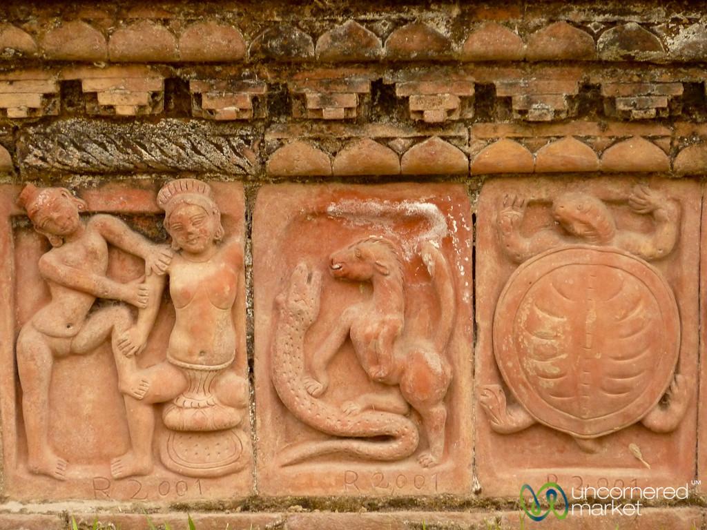 Terracotta Tiles at Paharpur - Bangladesh