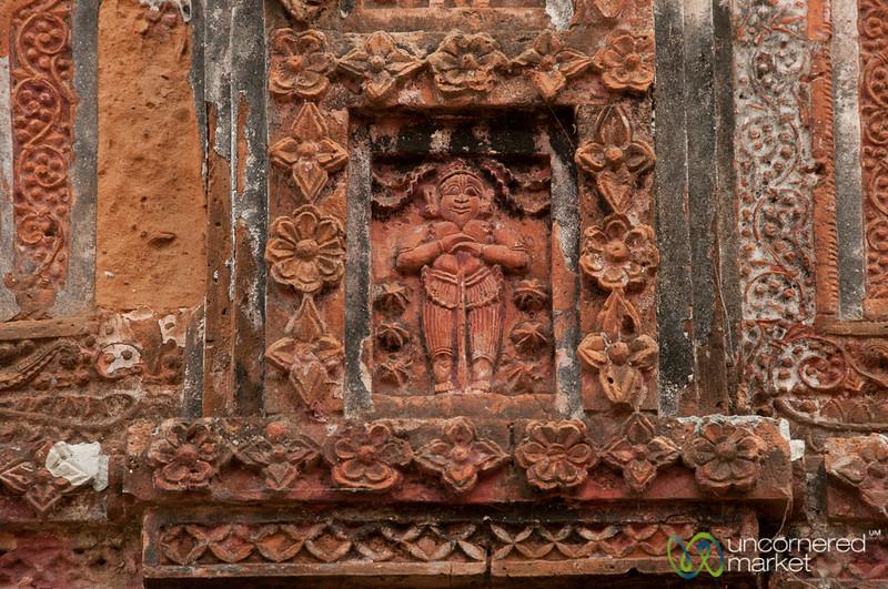 Terracotta Tile at Govinda Hindu Temple - Puthia, Bangladesh