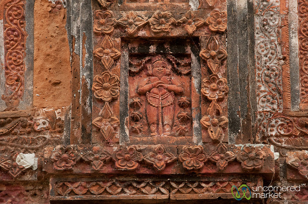 Terracotta Tile at Govinda Hindu Temple - Puthia, Bangladesh