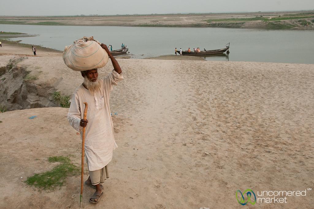 Older Bangladeshi Man Near Ganges River - Rajshahi, Bangladesh