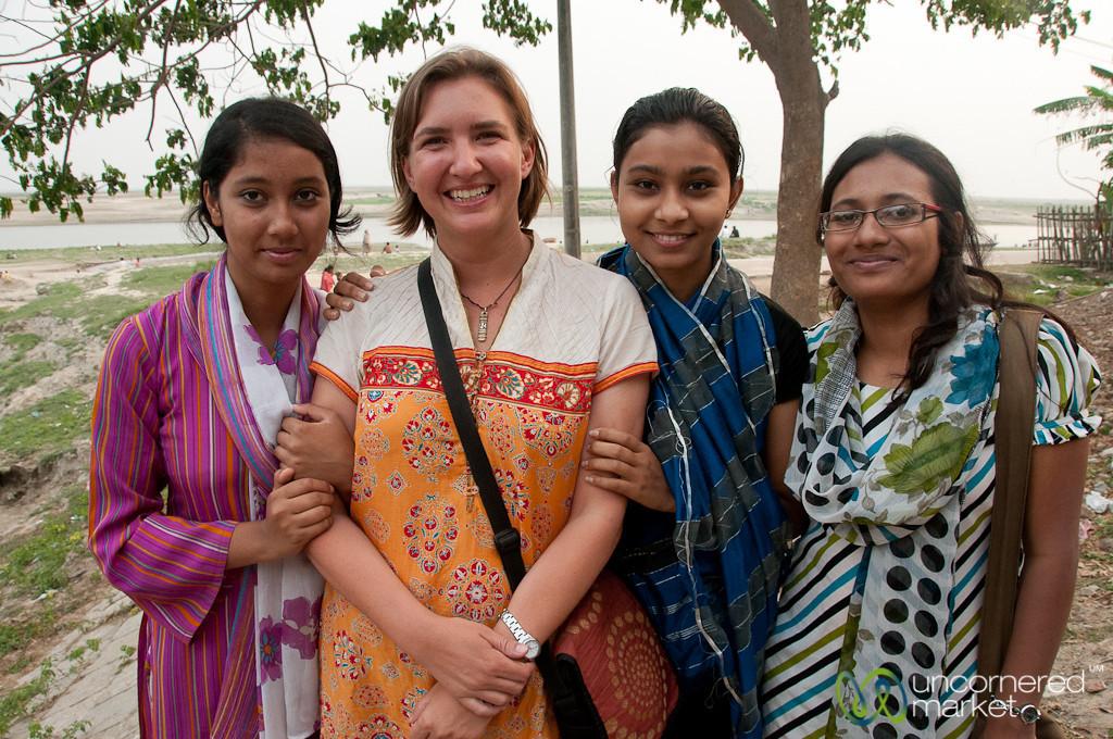 Audrey with Female University Students - Rajshahi, Bangladesh