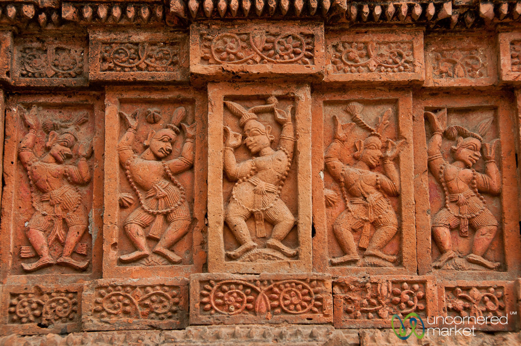 Terracotta Tiles at Govinda Hindu Temple - Puthia, Bangladesh