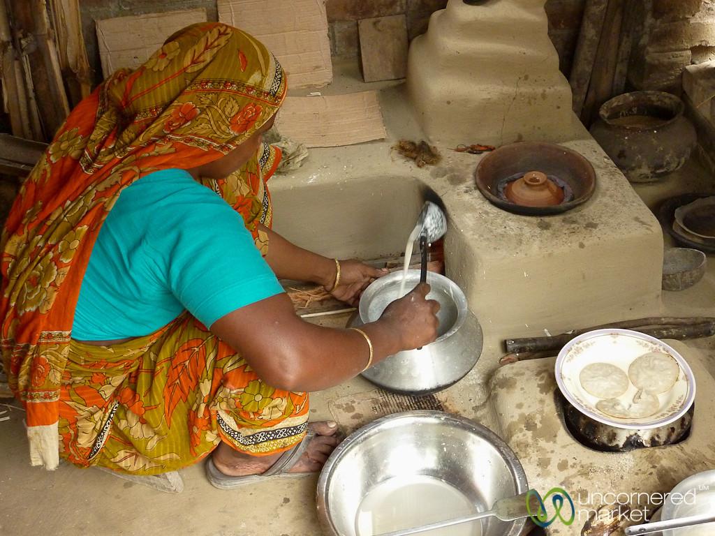 Pithas (Rice Pancakes) for Breakfast - Hatiandha, Bangladesh