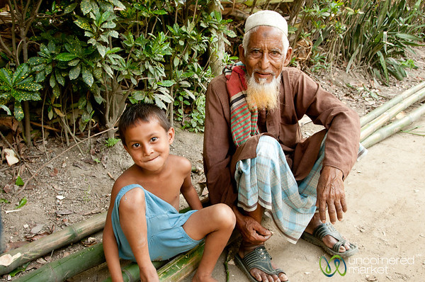 Grandfather with Grandson - Acholcot, Bangladesh