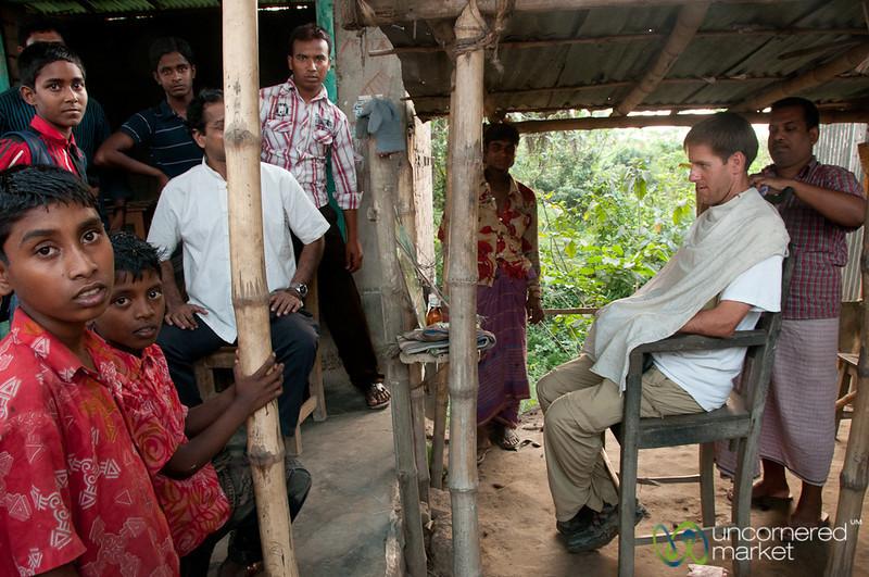 Street Side Barber - Hatiandha, Bangladesh