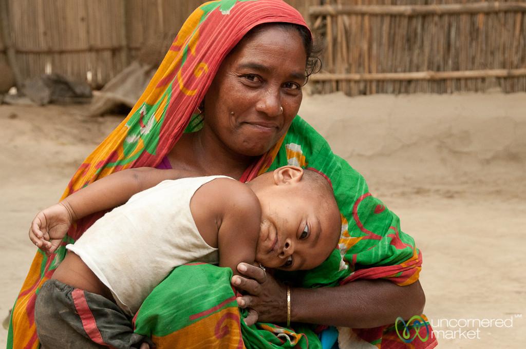 Mother and Baby Boy - Hatiandha, Bangladesh