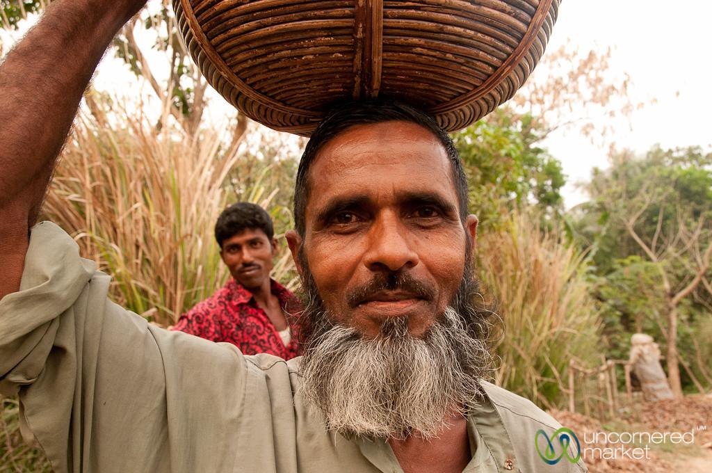 Man with Basket in Hatiandha, Bangladesh