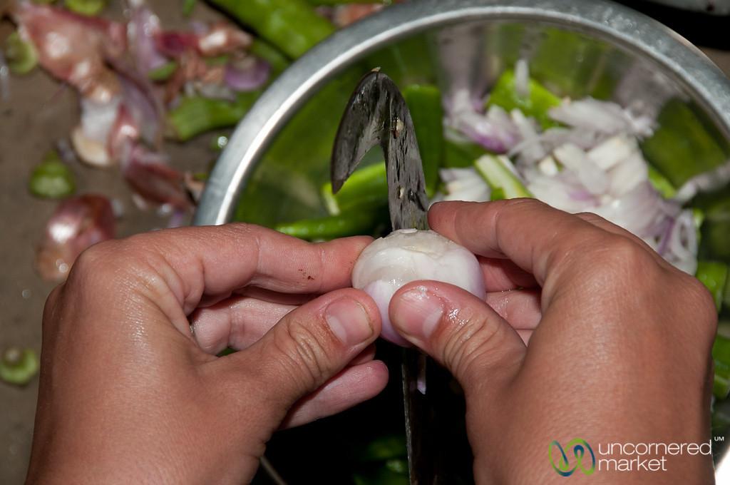Onion Cut with Traditional Knife - Hatiandha, Bangladesh