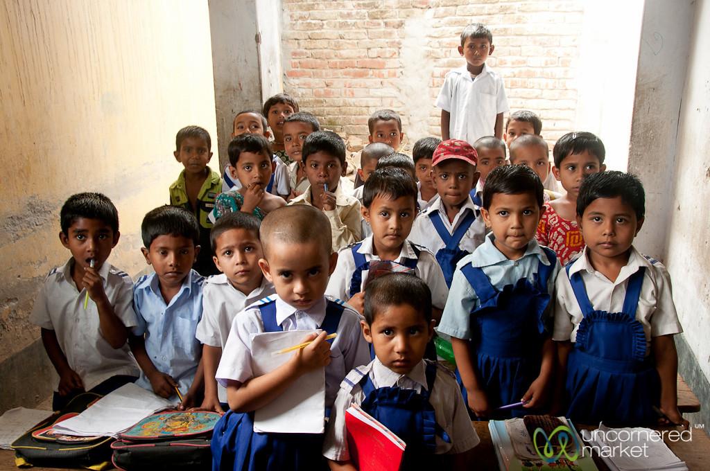 Young Boys and Girls at Rural School - Hatiandha, Bangladesh