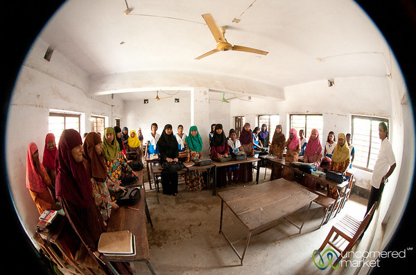Inside a Girls Classroom - Hatiandha, Bangladesh